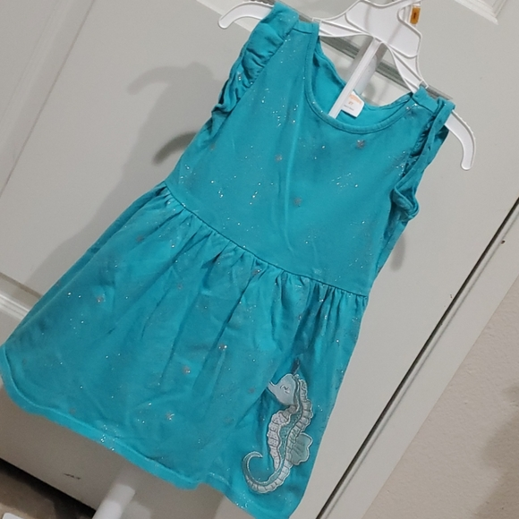 Gymboree Teal and Silver Dress 2t